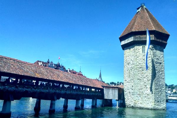 Chapel Bridge in Lucerne, Switzerland.