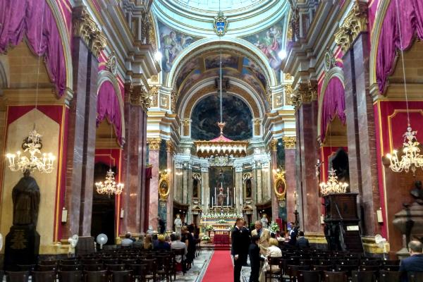 A church in Mdina, Malta