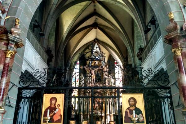 Franziskanerkirche (Franciscan Church) in Lucerne, Switzerland.