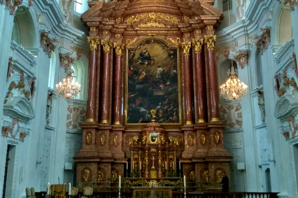 Jesuit Church in Lucerne, Switzerland where I attended mass.