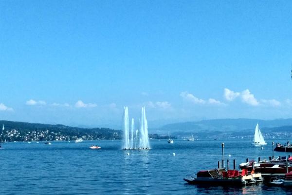 Lake Zurich in Zurich, Switzerland.