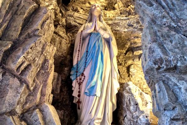 Mary in Sainte Croix Catholic Church in the area of Carouge in Geneva, Switzerland.