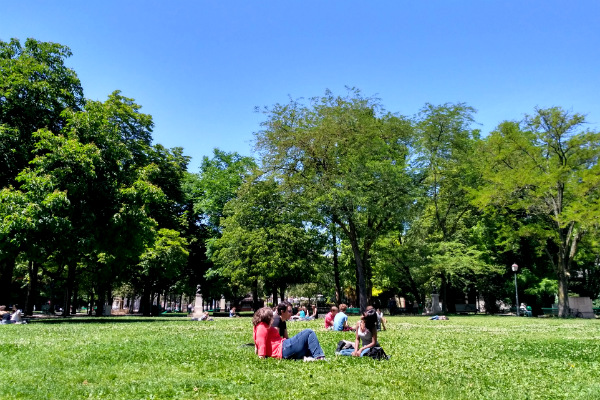 University of Geneva grounds in Geneva, Switzerland.
