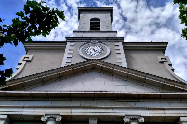 The Catholic Church of Sainte Croix in the area of Carouge in Geneva, Switzerland.