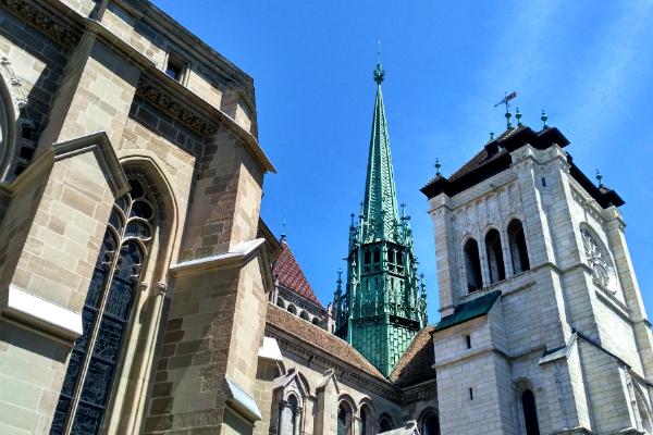 Saint Pierre Cathedral in Geneva, Switzerland.