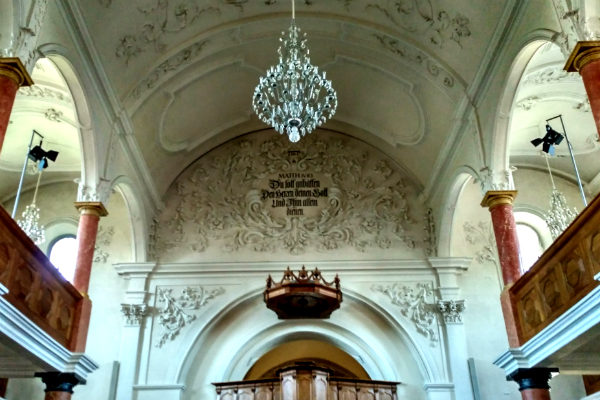 St Peter's Protestant Church in Zurich Switzerland.