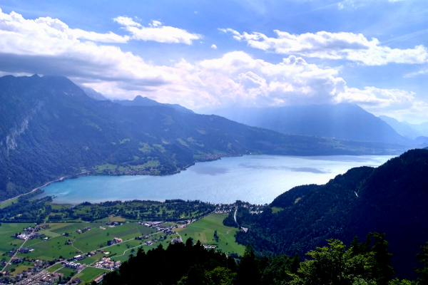 View from the top of Harder Kulm in Interlake, Switzerland.